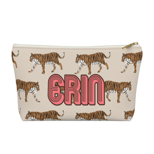 Tiger Natural Small Zippered Pouch