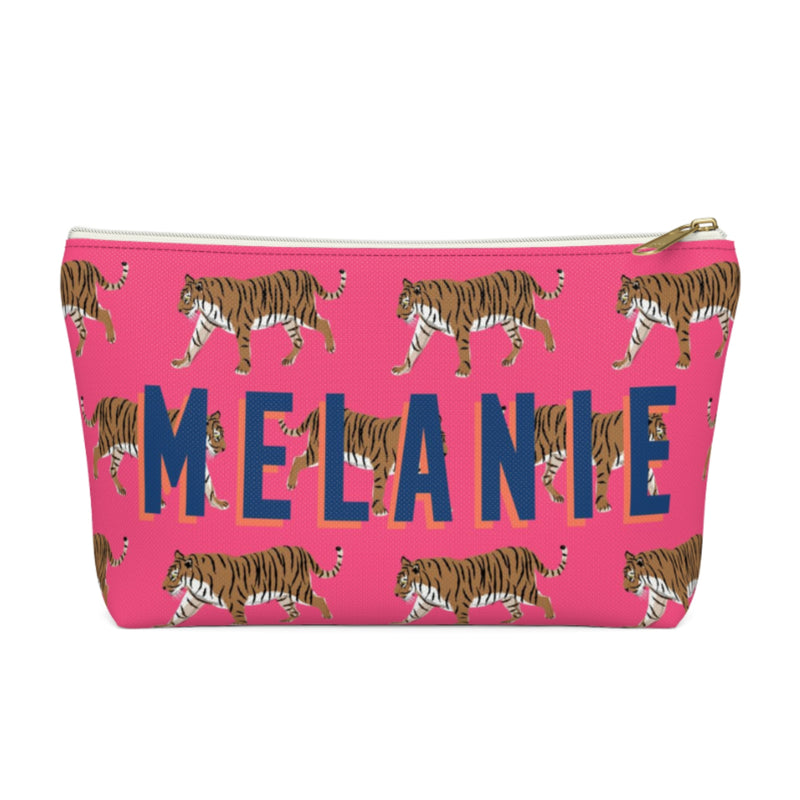 Tiger Pink Small Zippered Pouch