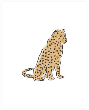 Leopard at Rest Art Print