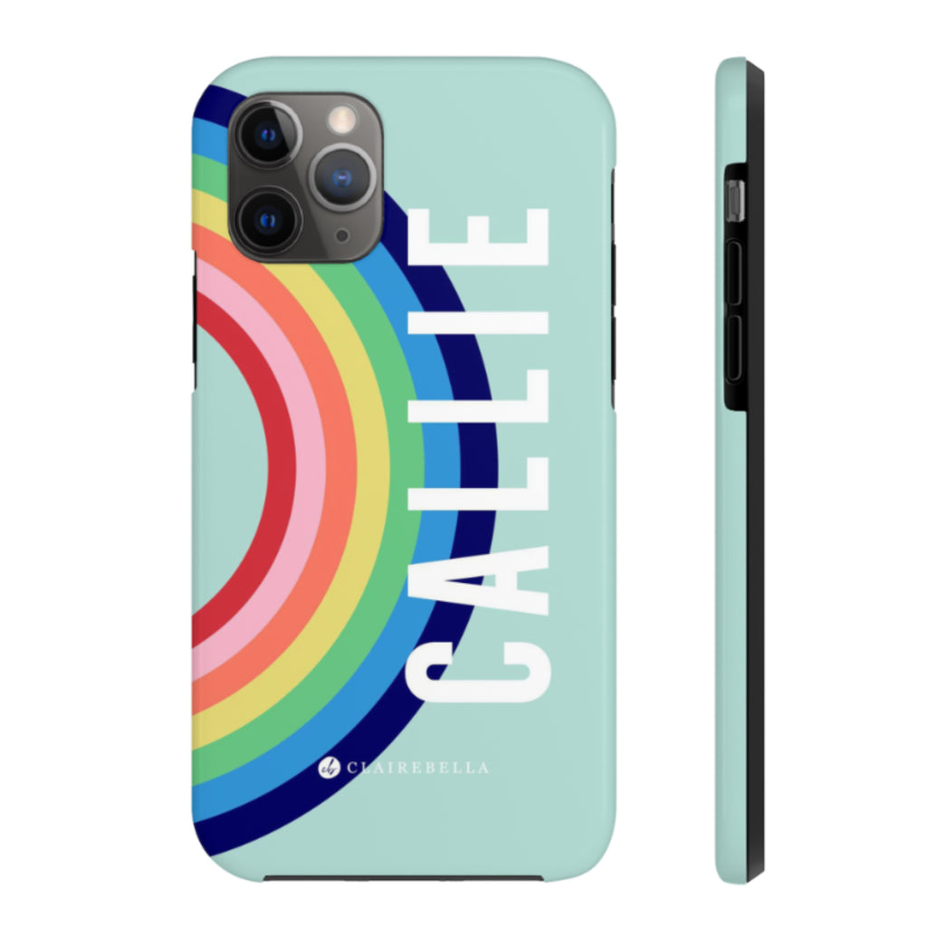 iPhone Tough Case 11 Pro Max Rainbow Blue
