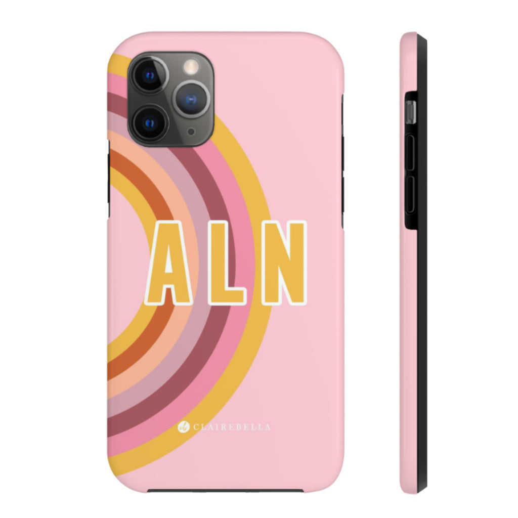 iPhone Tough Case 11 Pro Rainbow Pink
