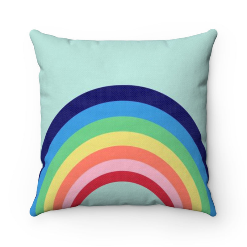 Rainbow Blue Pillow Cover