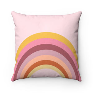 Rainbow Pink Pillow Cover