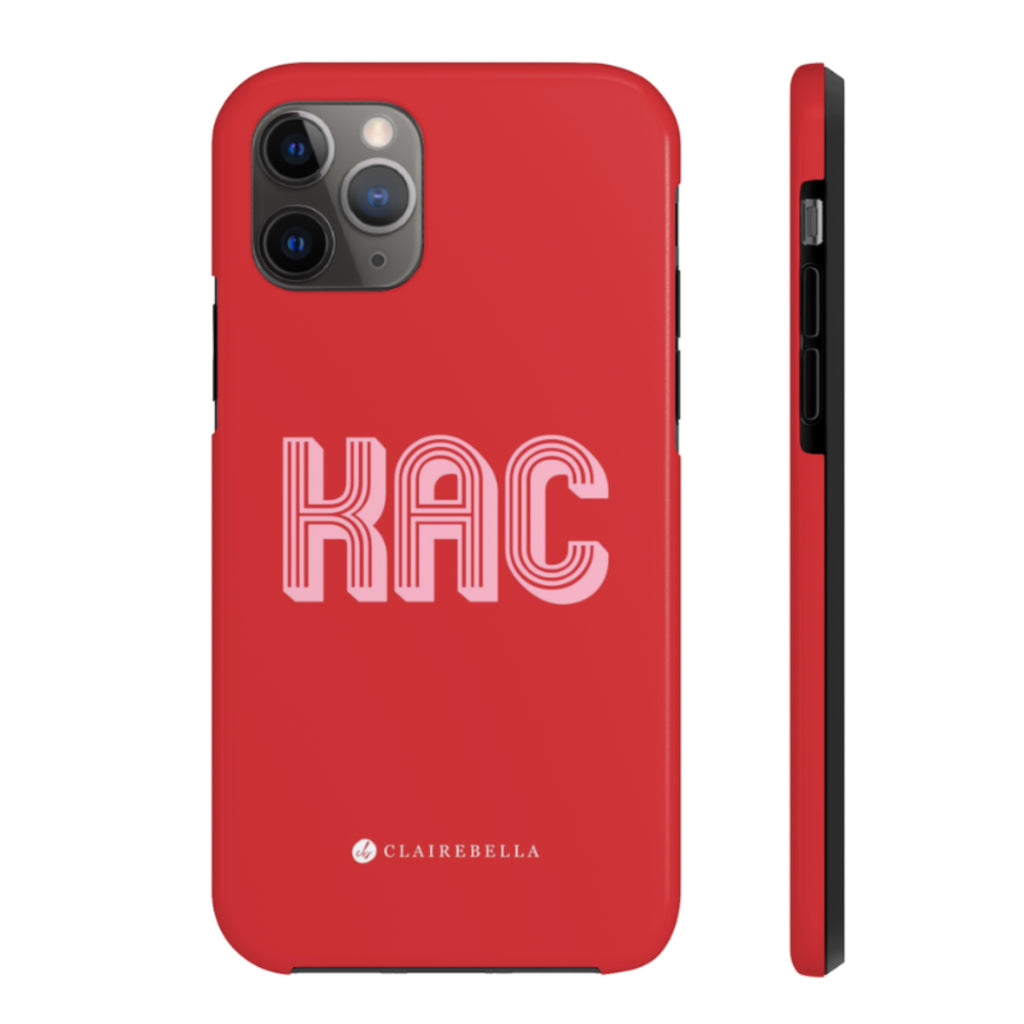 Solid Red iPhone 12/12 Pro Case