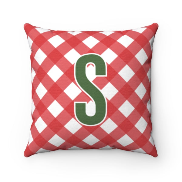 Gingham Red Pillow Cover