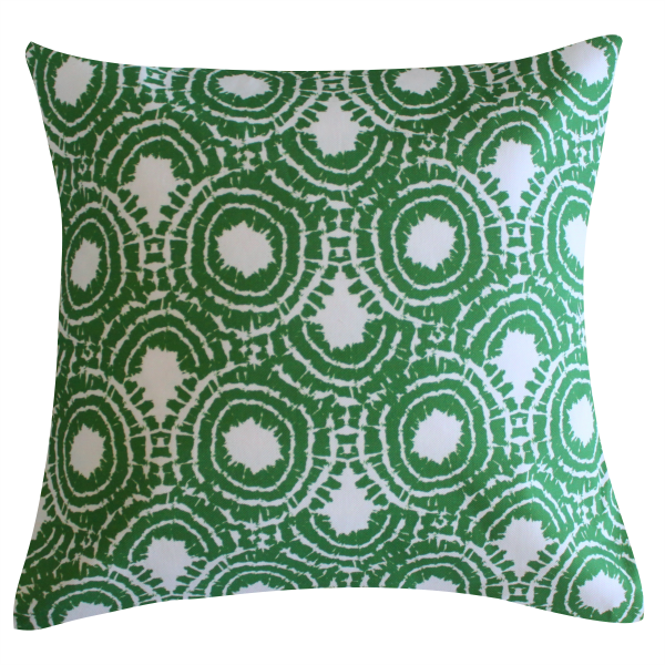 Rhapsody Green Pillow by Clairebella
