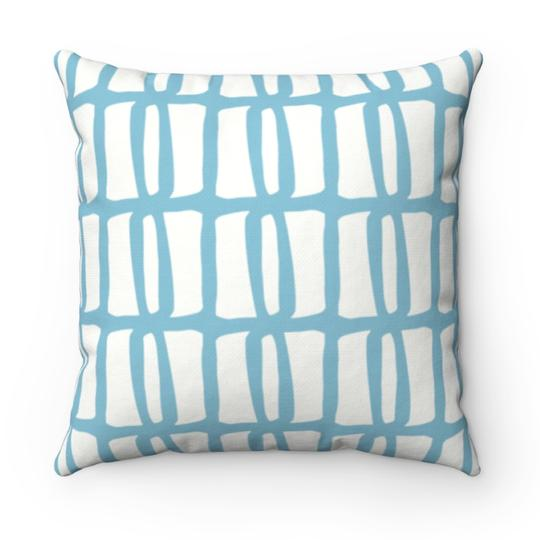 Riley Blue Outdoor Pillow