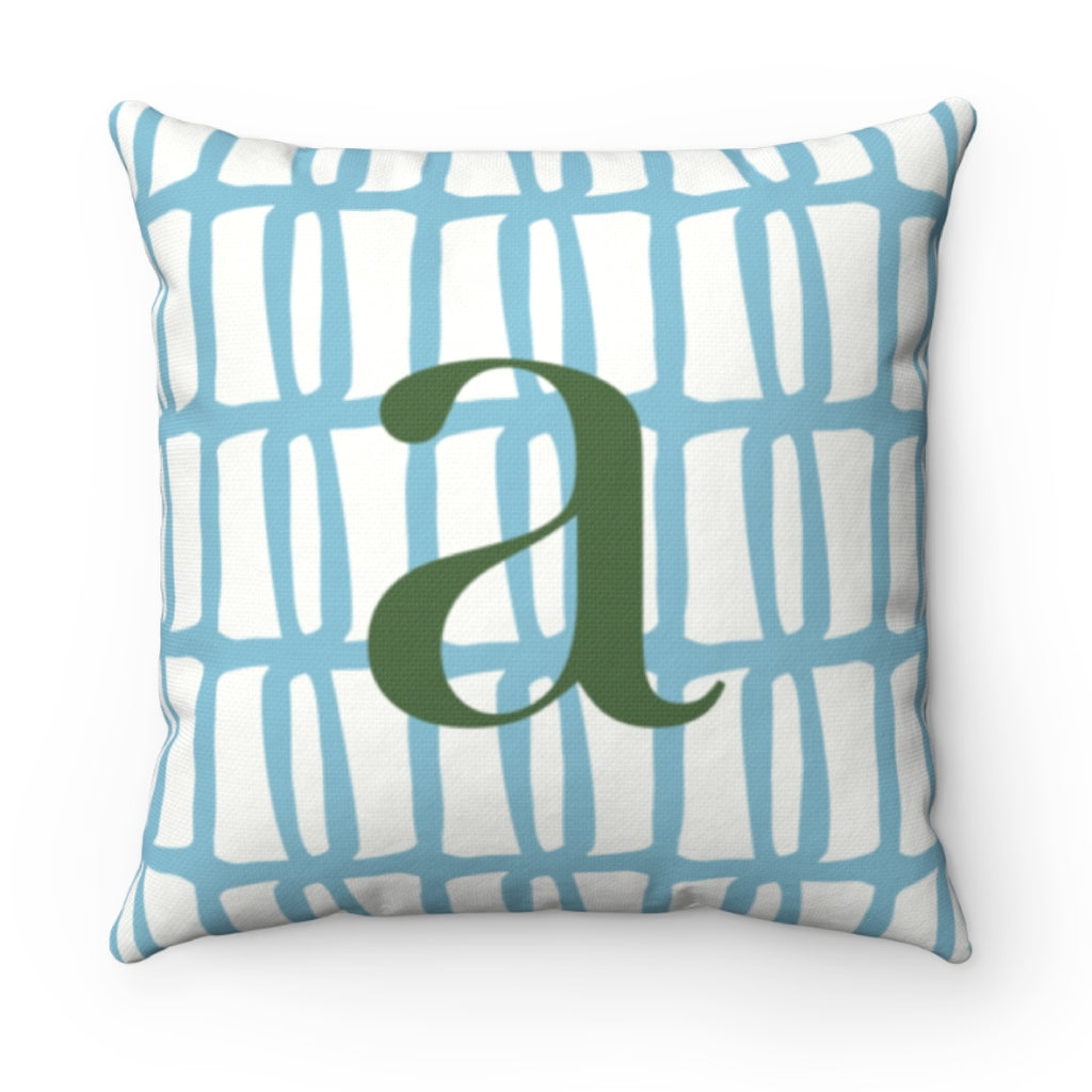 Riley Blue Pillow Cover