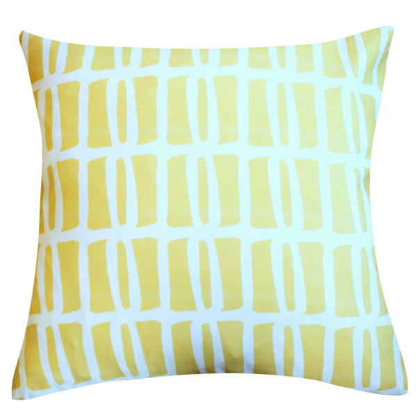 Riley Yellow Pillow by Clairebella