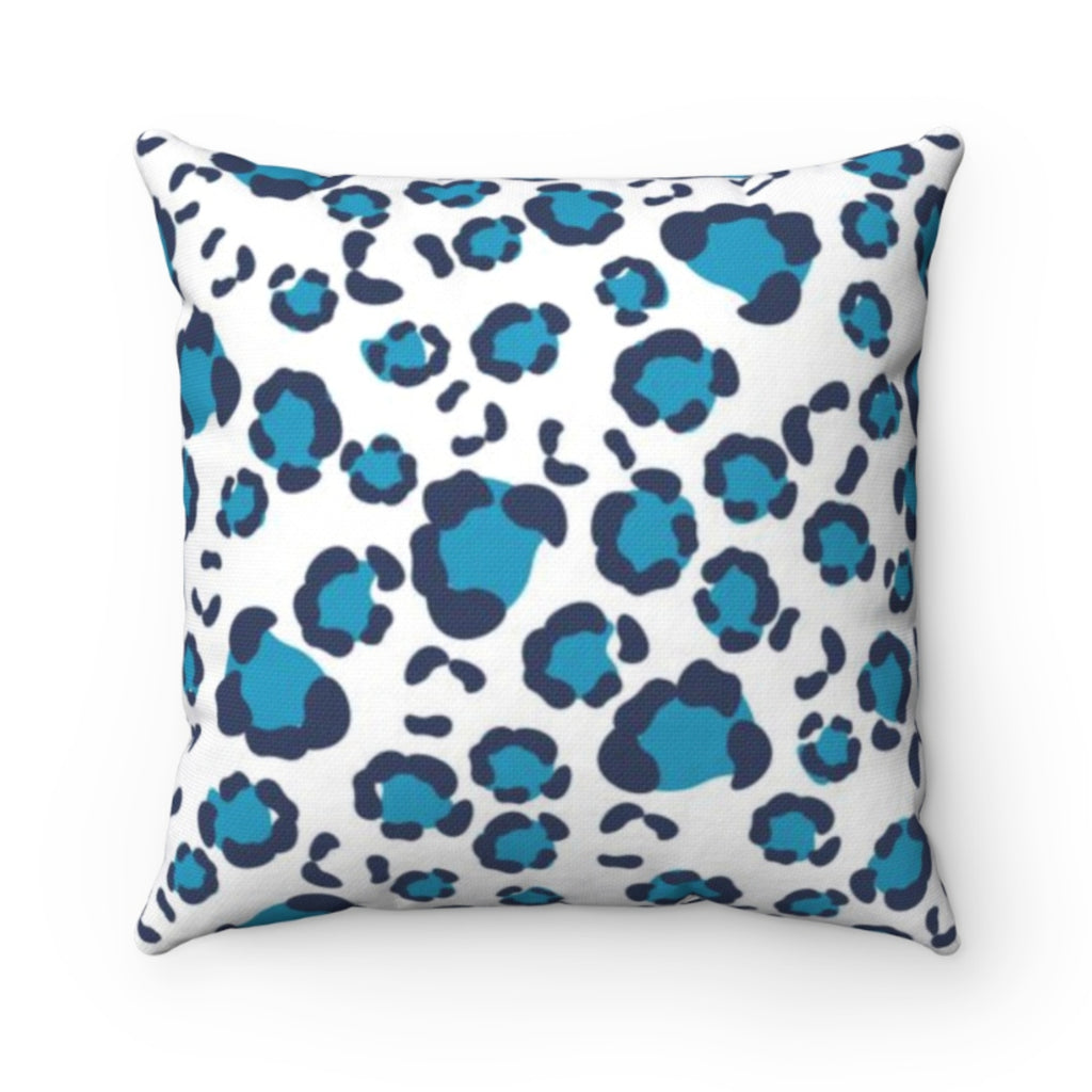 Leopard Spots Navy Outdoor Pillow