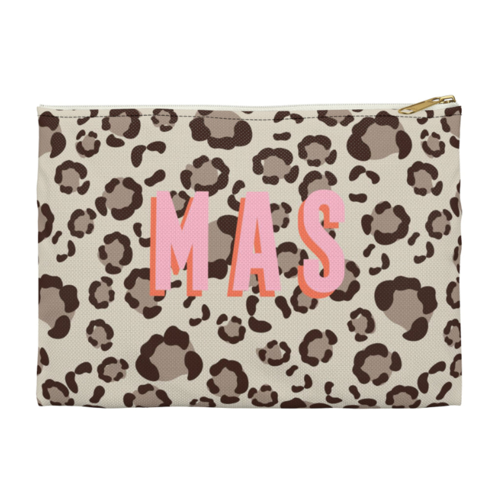 Leopard Spots Tan Large Zippered Clutch