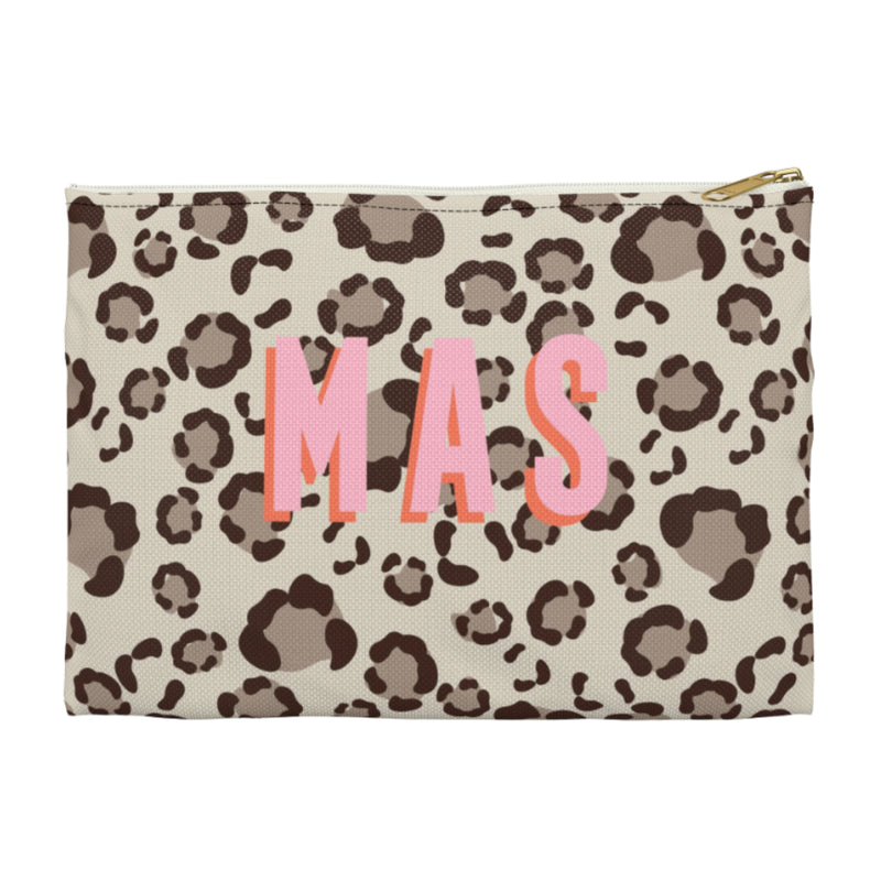 Leopard Spots Tan Small Zippered Clutch