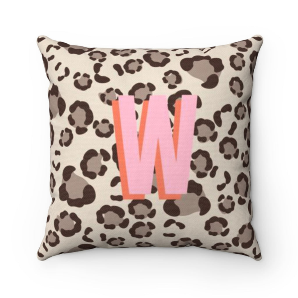Leopard Spots Tan Outdoor Pillow