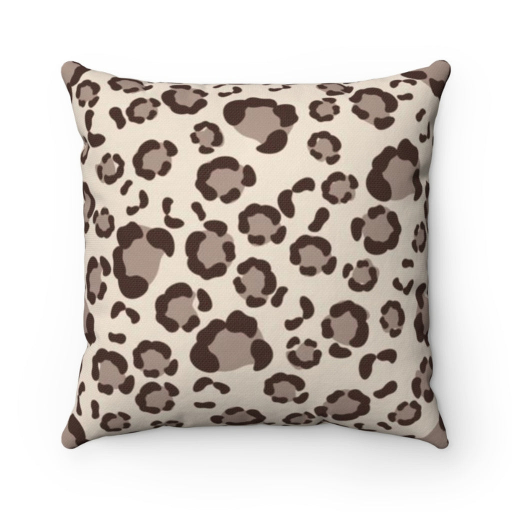 Leopard Spots Tan Pillow Cover