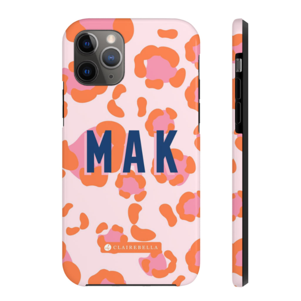 Leopard Spots Pink iPhone 12/12 Pro Case