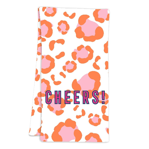 Leopard Spots Pink Hostess Towel