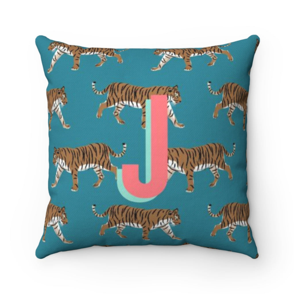 Tiger Blue Pillow Cover