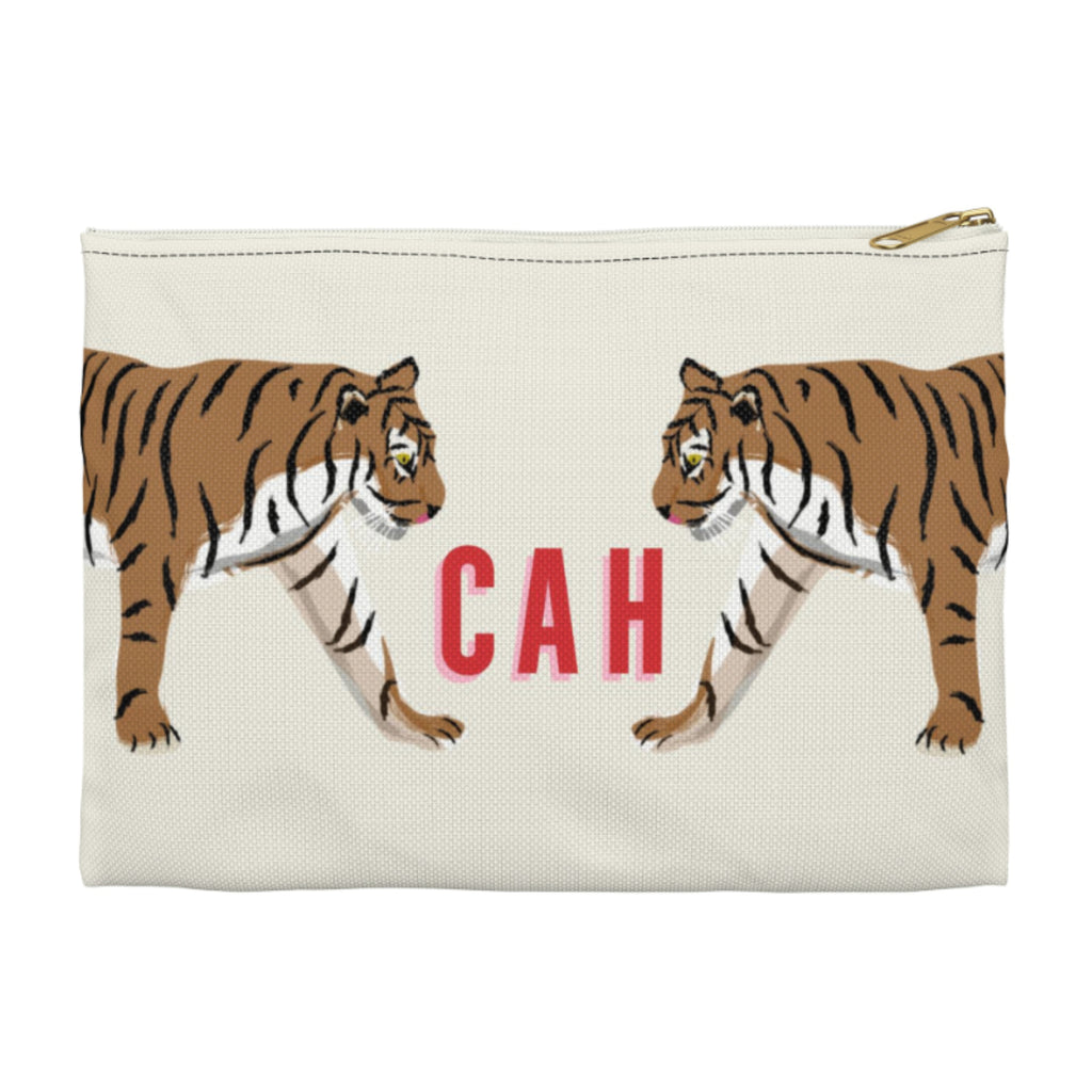 Tiger Duo Small Zippered Clutch
