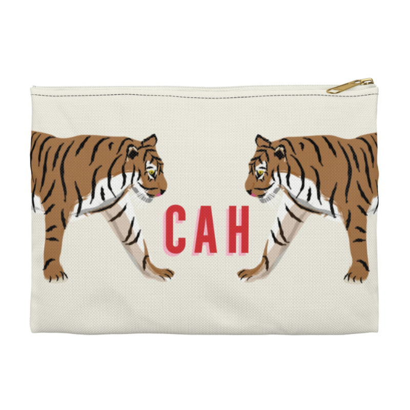 Tiger Duo Large Zippered Clutch