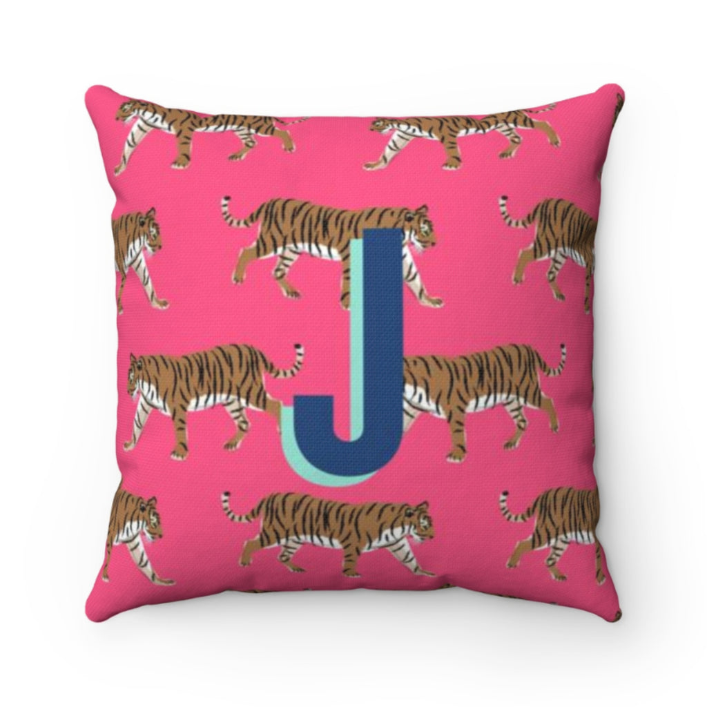 Tiger Pink Pillow Cover