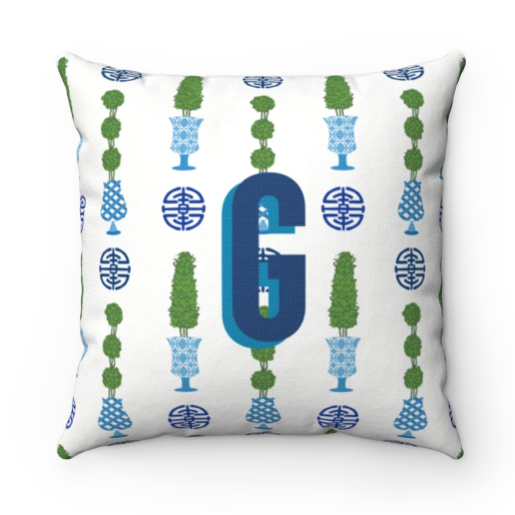 Chinoiserie Topiary Pillow Cover