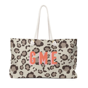 Leopard Spots Tan Travel Tote