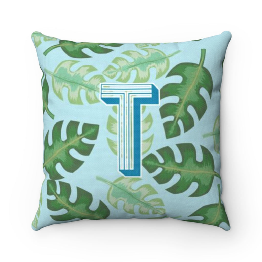 Tropical Blue Outdoor Pillow