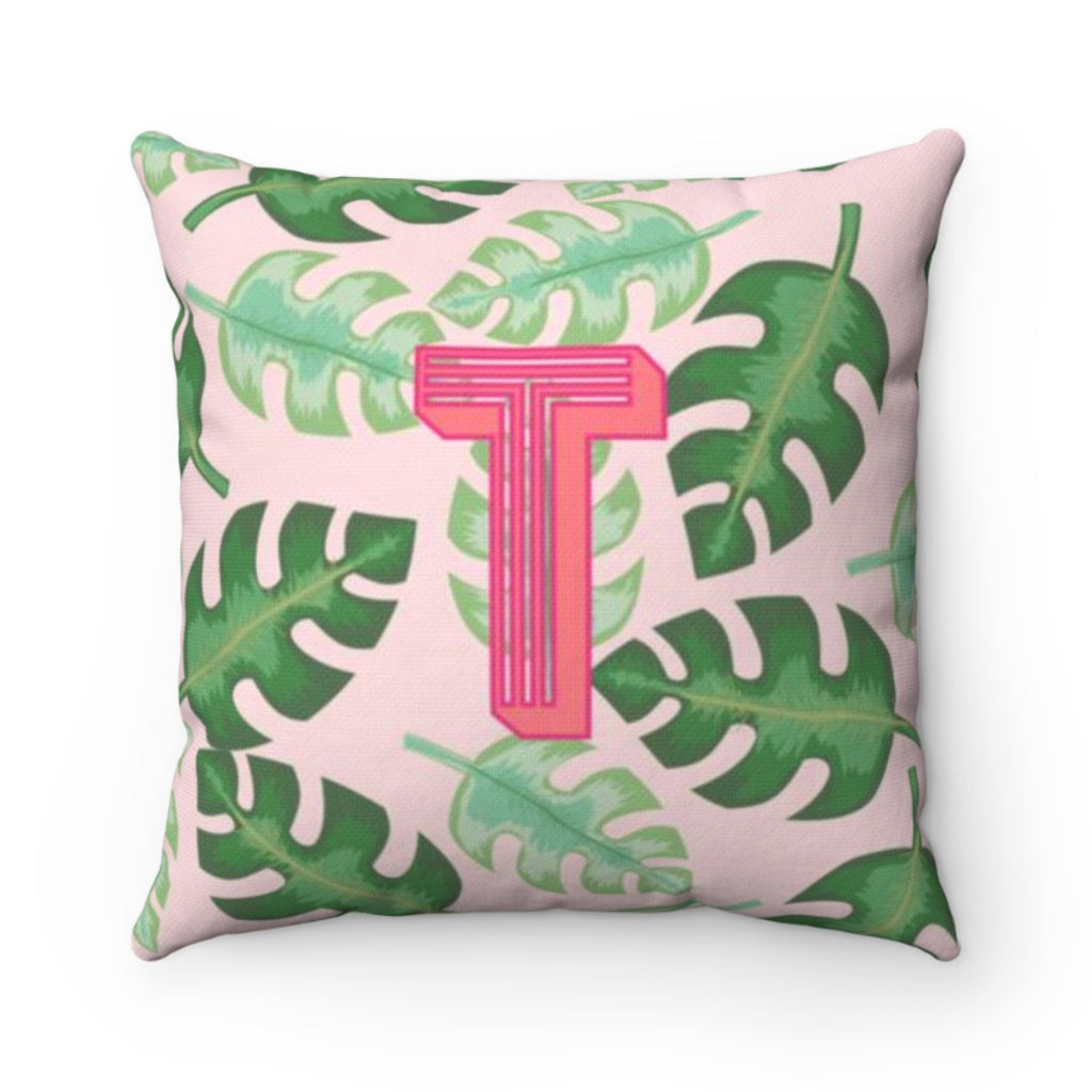 Tropical Pink Pillow Cover