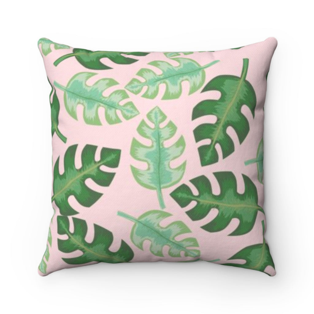 Tropical Pink Outdoor Pillow