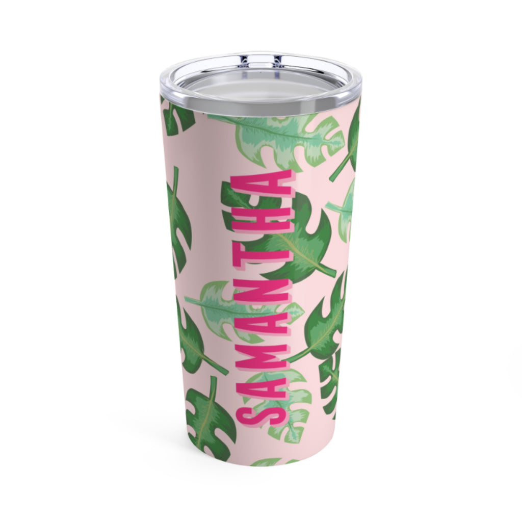 Large Tropical Pink Tumbler