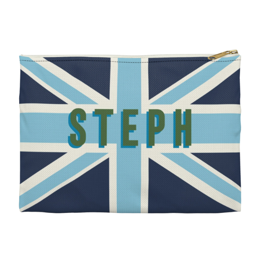 Union Jack Blue Large Zippered Clutch
