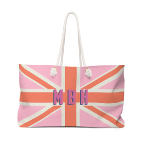 Union Jack Pink Travel Tote