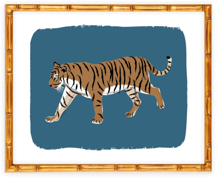 Walking Tiger Art Print