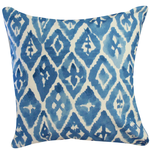 Watercolor Ikat Pillow by Clairebella