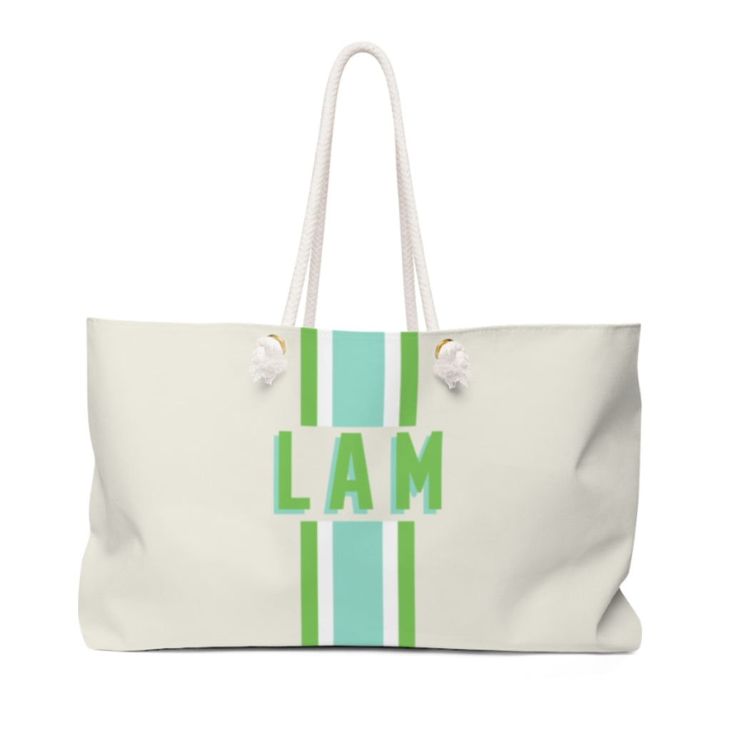 Stripe Limeaide Travel Tote