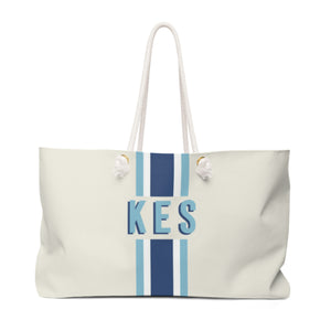 Stripe Navy/Blue Travel Tote