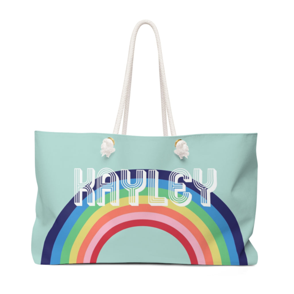 Rainbow Blue Travel Tote