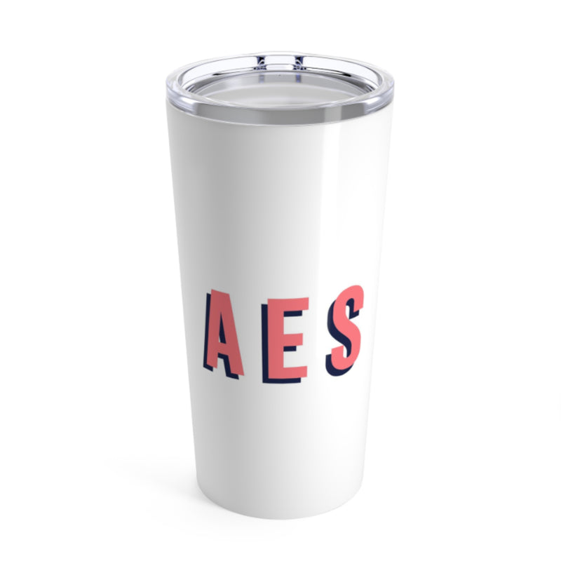 Large Solid White Tumbler