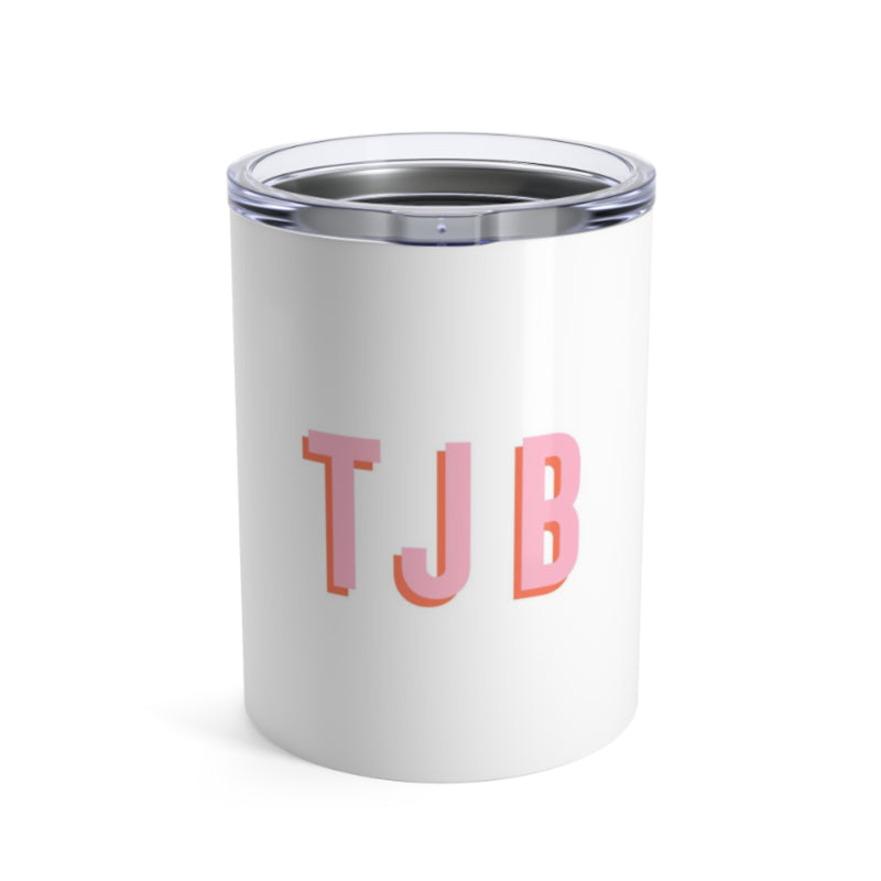 Small Solid White Tumbler