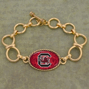 South Carolina Gold Toggle Charm Bracelet