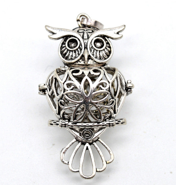 Owl essential oil diffuser necklace with lava stone a finishing touch owl essential oil diffuser necklace with lava stone aloadofball Gallery