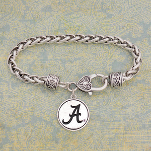 Alabama Crimson Tide Silver Medallion Bracelet