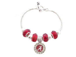 Alabama Crimson Tide Slider Jeweled Beads Bracelet
