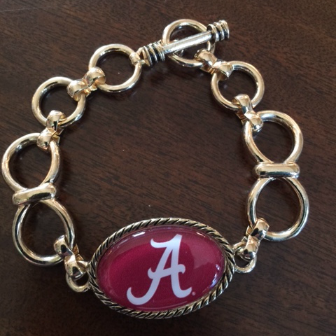 Alabama Gold Toggle Bracelet