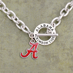 Alabama Crimson Tide Toggle Charm Necklace