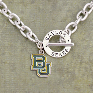 Baylor Bears Toggle Charm Necklace