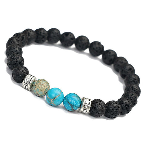 Natural Stone and Lava Rock Bracelet for Essential Oils