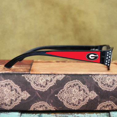 Georgia Bulldogs Womens Reading Glasses with Crystals