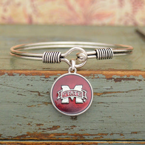 Mississippi State Bulldogs Bangle Bracelet