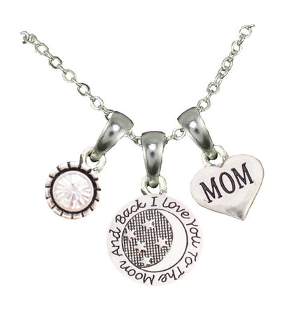 Love You To the Moon Necklace - Personalized